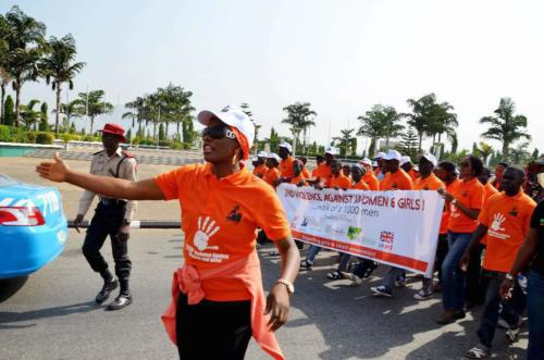1000 man March to eliminate violence against women and children